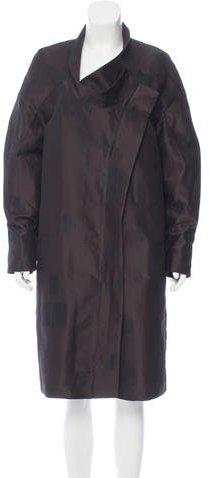 Calvin Klein Collection Mock-Collar Jacquard Jacket