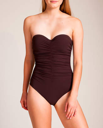Karla Colletto Basic Molded Bandeau Swimsuit