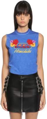 DSQUARED2 Honolulu Print Jersey Sleeveless T-Shirt