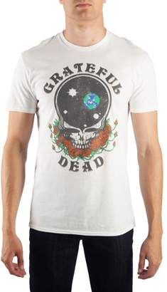 Music Men's Grateful Dead Space Your Face Graphic Tee, Up to Size 2XL