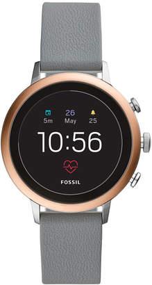 Fossil New Q Women's Venture Gen 4 Hr Gray Silicone Strap Touchscreen Smart Watch 40mm