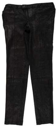 Helmut Lang Leather Low-Rise Skinny Pants