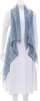 Wolford Striped Open Front Vest