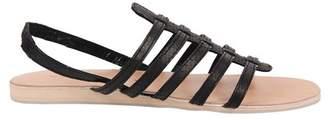 Cocobelle Snake Embossed Gladiator Sandal