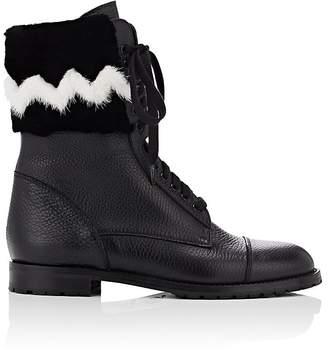 Manolo Blahnik Women's Campchafur Leather & Fur Ankle Boots