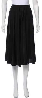 Noir Kei Ninomiya Pleated Satin Skirt