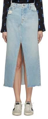 GRLFRND 'Isla' split frayed hem ripped denim skirt