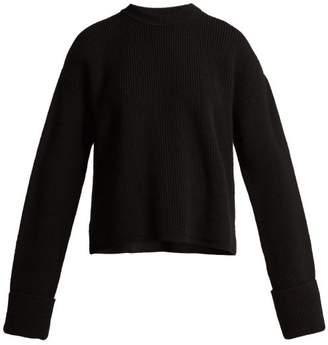 Stella McCartney Cut Out Shoulder Wool Sweater - Womens - Black