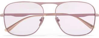 Gucci Aviator-style Metal Sunglasses - Purple