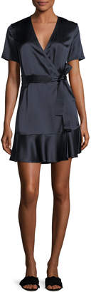 A.L.C. Micah Silk Satin Wrap Dress