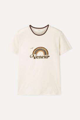 Zimmermann Veneto Printed Slub Cotton-jersey T-shirt - Ecru