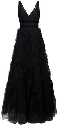 Marchesa V-neck gown