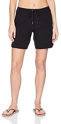 "Nautica Women's Solid Boardshorts 7"" Swim Shorts"
