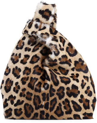 Simonetta Ravizza Furrissima Leopard-Print Calf Hair Fur Shopper Tote Bag