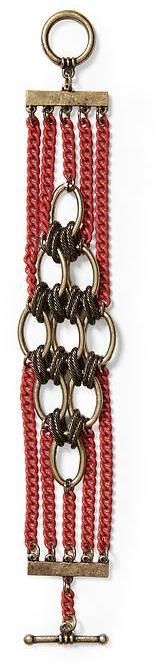 Juicy Couture Sabine Red Chain Bracelet