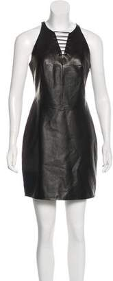 Alexander Wang Leather Lace-Up Dress