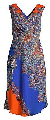 Elie Tahari Women's Agatha Paisley Print Shift Dress - Size 0