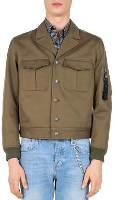 The Kooples Gabardine Eisenhower Jacket