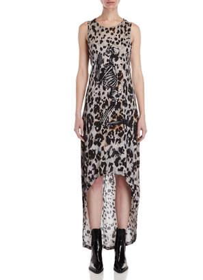 Religion Pop Graphic Leopard Print Maxi Dress