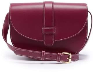 A.P.C. Eloise Leather Saddle Bag - Womens - Fuchsia