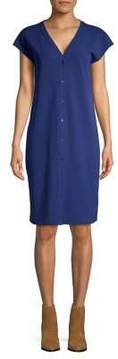 Halston H Flutter-Sleeve Shirt Dress