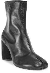 Maison Margiela Leather Fold Over Mid Calf Boots