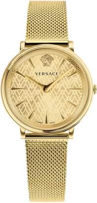 Versace Manifesto Mesh Strap Watch, 38mm