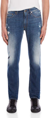 Love Moschino Distressed Faded Slim Fit Jeans