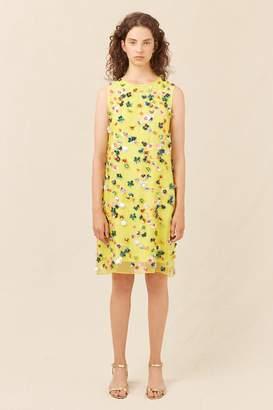 Mansur Gavriel Floral Embellished Mini Dress - Sun