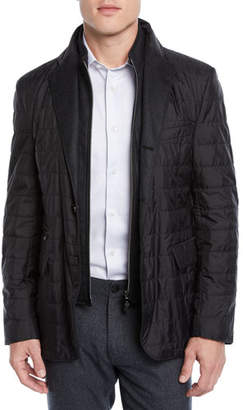 Corneliani Men's Quilted Wool Jacket