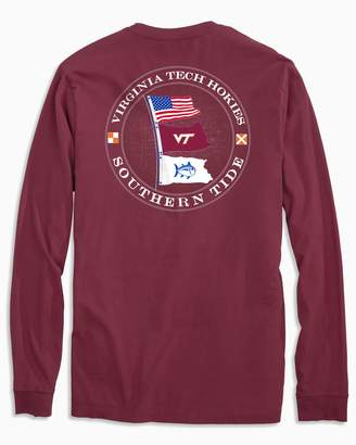 Southern Tide Gameday Nautical Flags Long Sleeve T-shirt - Virginia Tech