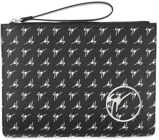 Giuseppe Zanotti Design monogram clutch bag