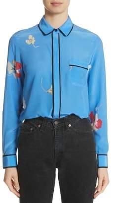 Ganni Joycedale Floral Silk Shirt