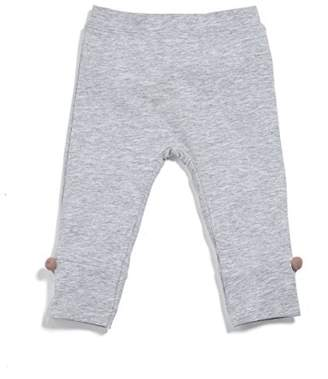 Mamas and Papas Baby Girls' Grey Leggings Pom,6-9 Months