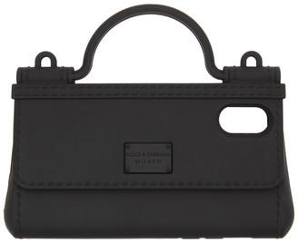 Dolce & Gabbana Black Bag Shape iPhone X Cover