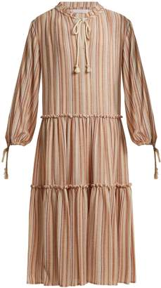 See by Chloe Tiered striped gauze dress