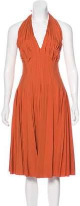 J. Mendel Halter Midi Dress w/ Tags