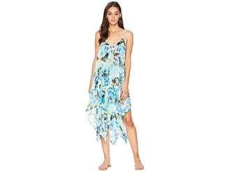LaBlanca La Blanca Painted Love Lingerie V-Neck Maxi Scarf Dress Cover-Up