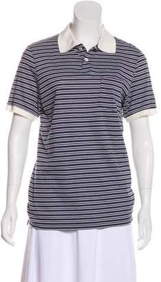 Band Of Outsiders Striped Polo Top