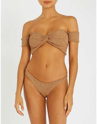 Hunza G Off-the-shoulder bikini