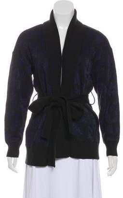 RtA Denim Belted Medium-Weight Cardigan