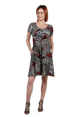 24/7 Comfort Apparel 24Seven Comfort Apparel Zooey Empire Waist Maxi Dress - Plus