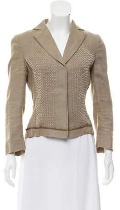 Alberta Ferretti Silk Embellished Blazer
