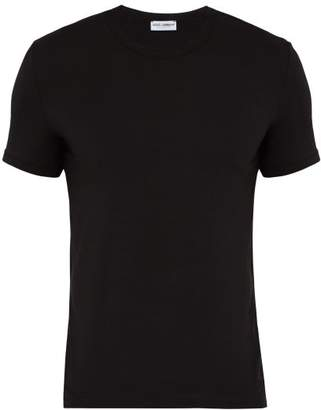 Dolce & Gabbana Embroidered Logo Pyjama T Shirt - Mens - Black
