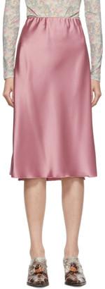 Nanushka Pink Satin Zarina Slip Skirt