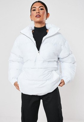 Missguided White Zip Detail Puffer Jacket