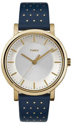 Timex Analog Originals Goldtone Leather Strap Watch