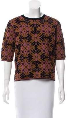 Dries Van Noten Abstract Pattern Knit Sweater