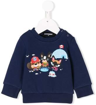DSQUARED2 igloo print sweatshirt
