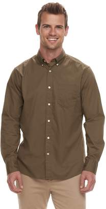 Sonoma Goods For Life Men's SONOMA Goods for Life Modern-Fit Long Sleeve Solid Poplin Button-Down Shirt